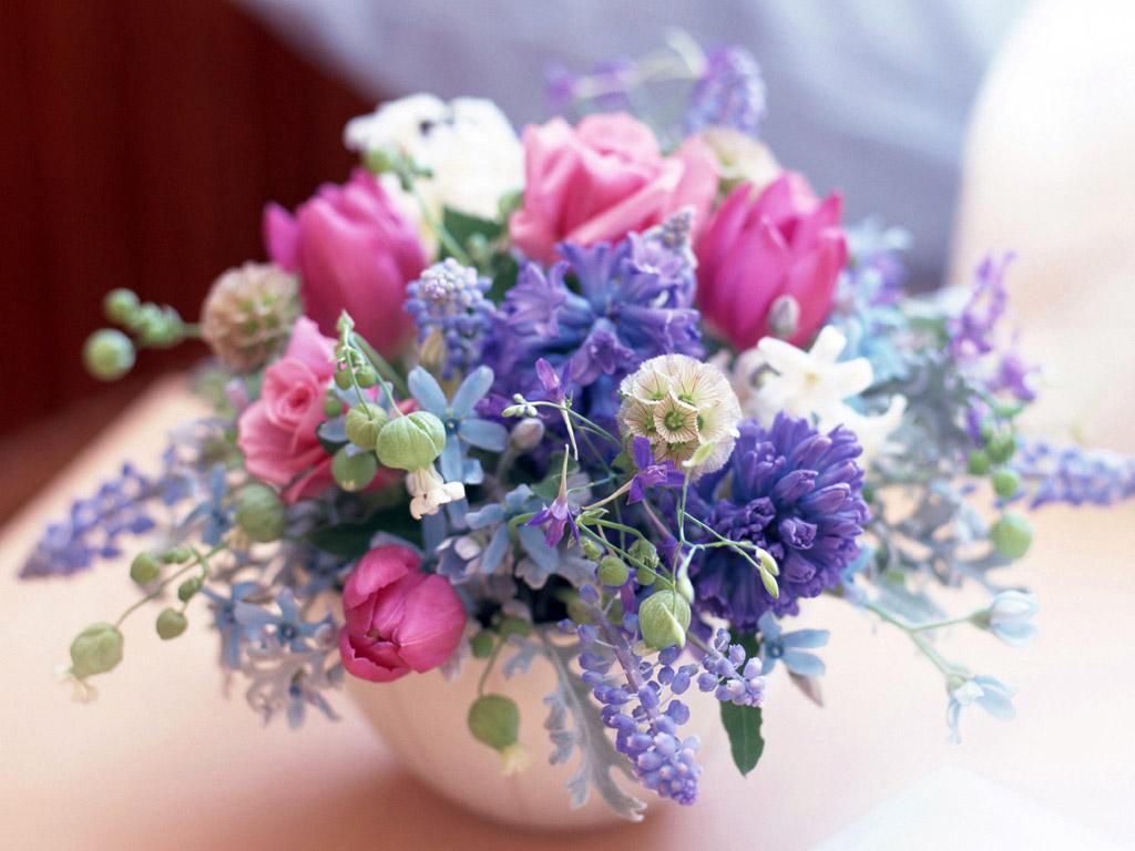Букет весенних цветов картинки с днем рождения, для открытки